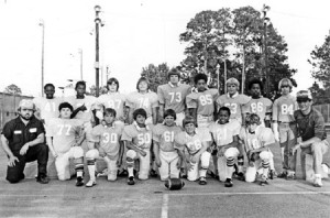 Wayne Young and Cathy Bagley have identified the coaches in last week's photo, but none of the players have been identified. Cathy's husband, Randy Bagley, is the coach pictured at left and Lloyd Brewer is on the right.